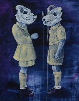 Soldats, 2014 - acrylique sur papier aquarelle, 110 x 130 cm