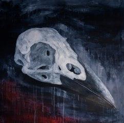 Crow, 2015,acrylique sur toile, 115 x 115 cm