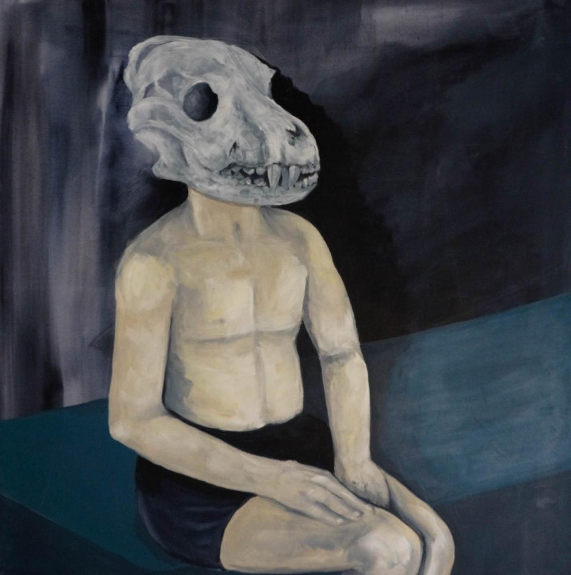 Hamam, 2014, acrylique sur toile, 20 cm x 120 cm