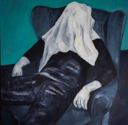 Le fantôme d'Orgelet, acrylique sur toile, 110x110 cm, 2014
