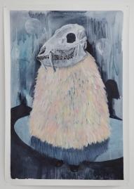 Mondfänger, acrylique sur papier toilé, 100x150 cm, 2016