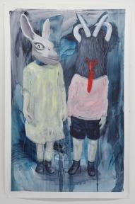 Krampuss, acrylique sur papier toilé, 100x150cm, 2016