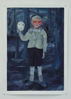 Le temps perdu, acrylique sur papier, 50x70cm, 2016