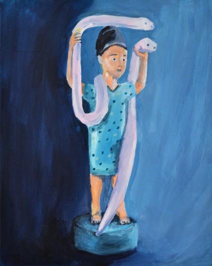 Mami Wata, 41x33 cm 120x97 cm, acrylique sur toile