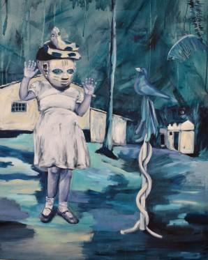 Passarinho, 120x97 cm, acrylique sur toile